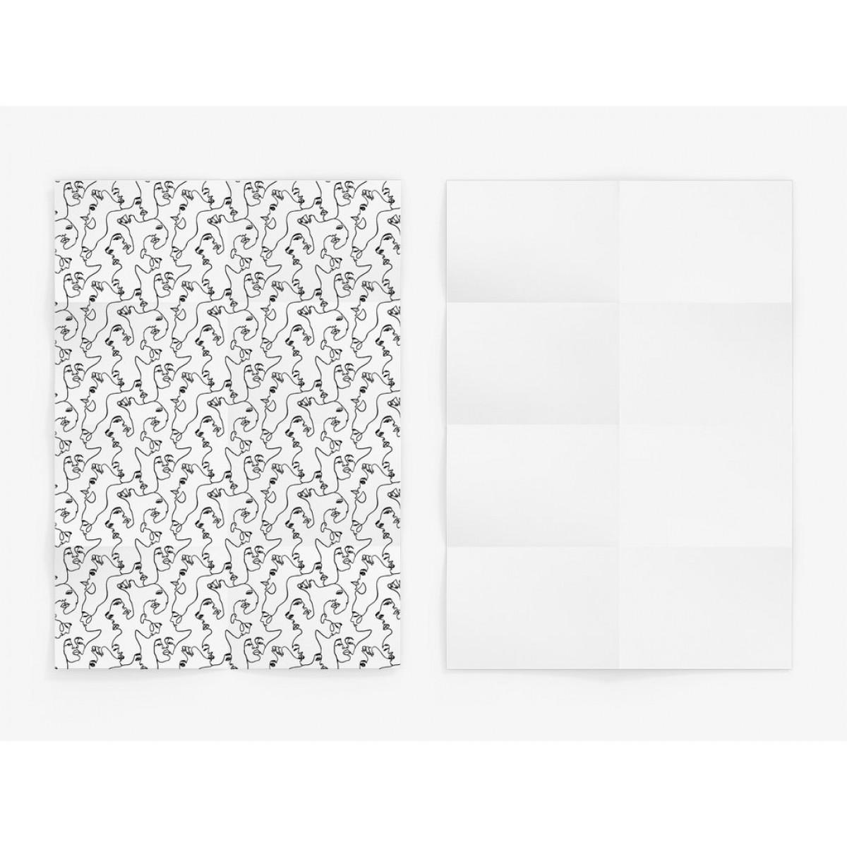 typealive / Geschenkpapier / Faces (gefaltet)