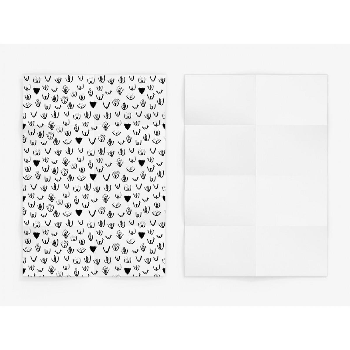 typealive / Geschenkpapier / Vulvarines (gefaltet)