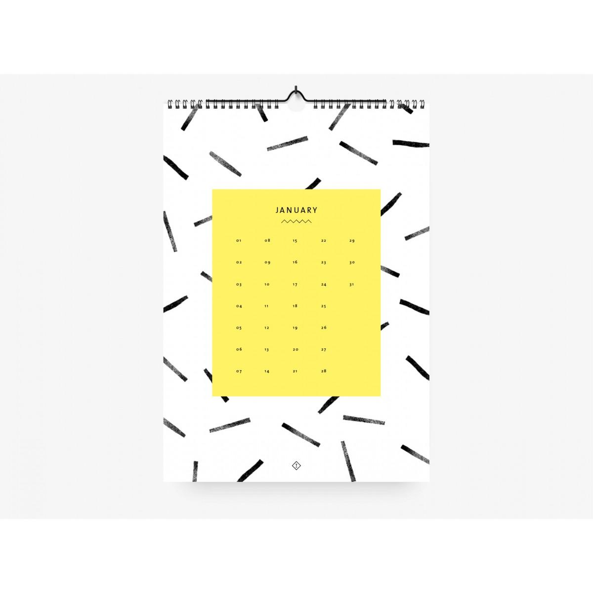 typealive / Wandkalender DIN A4 / Black & White