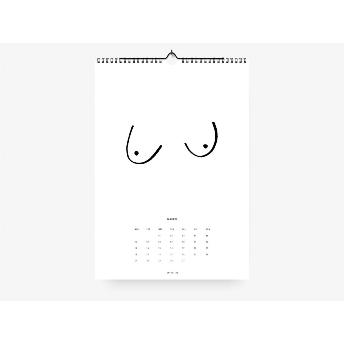 typealive / Wandkalender DIN A4 & DIN A3  / Blusenfreunde 2020