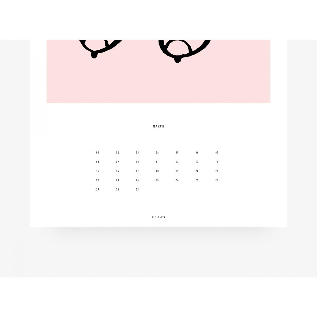 typealive / Wandkalender DIN A4 oder DIN A3  / Busenfreunde
