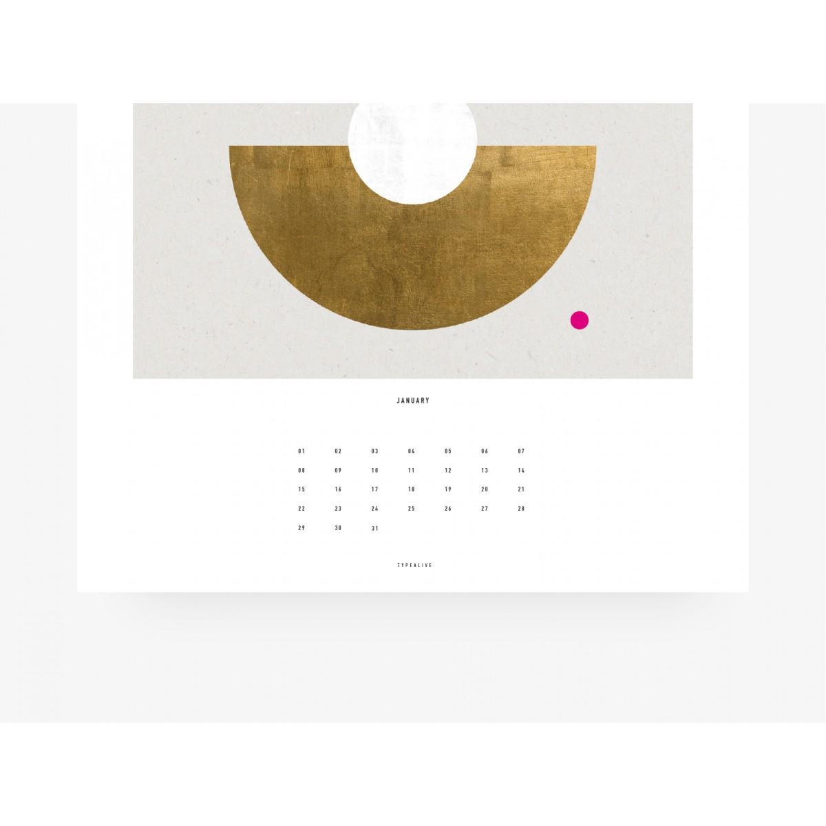 typealive / Wandkalender DIN A3 / Geometry