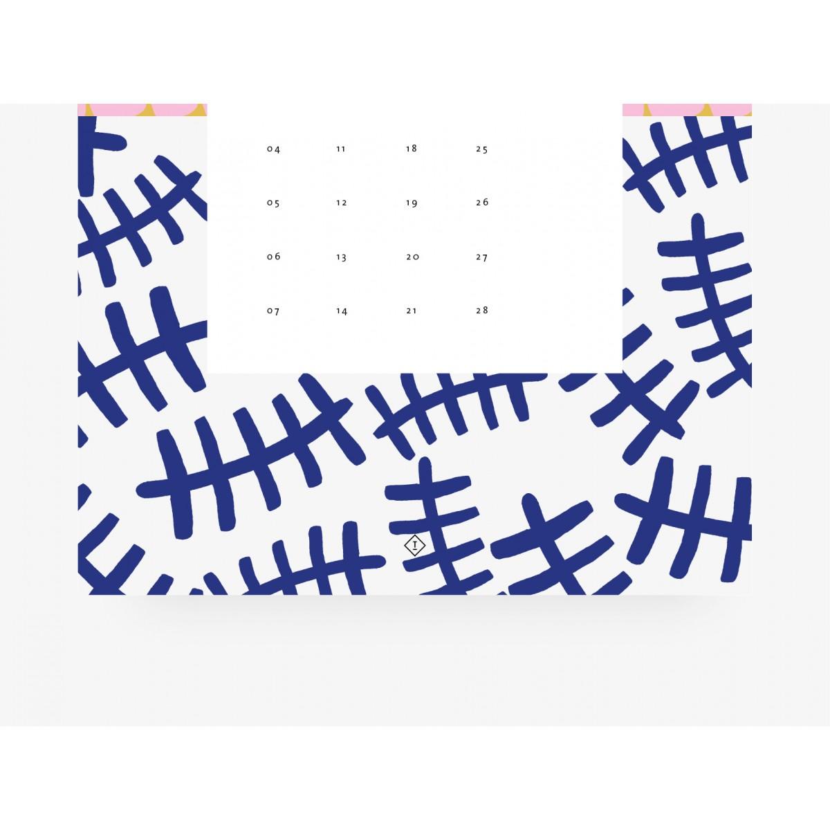 typealive / Wandkalender DIN A4 / Pattern