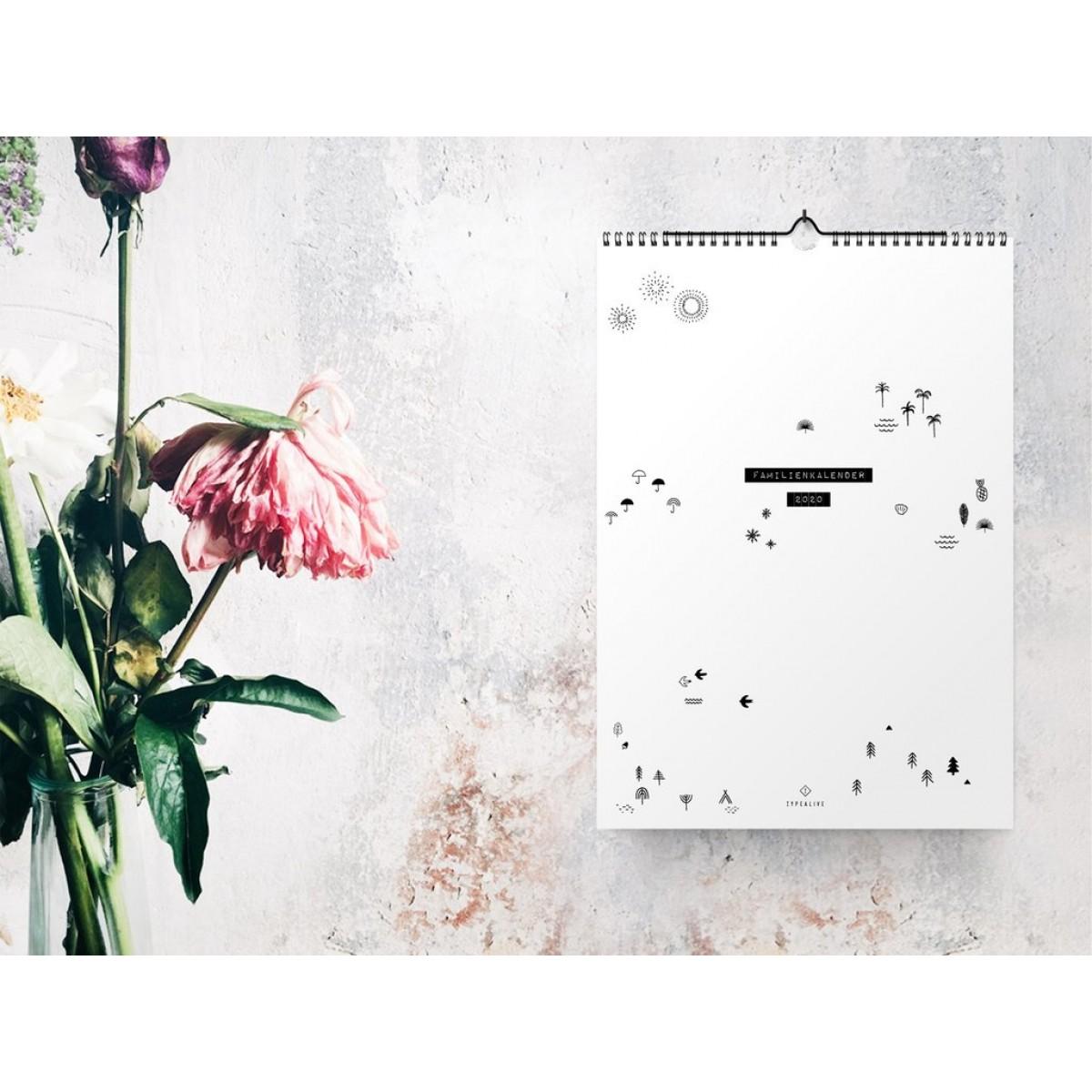 typealive / Familienkalender DIN A3 / Seasons 2020