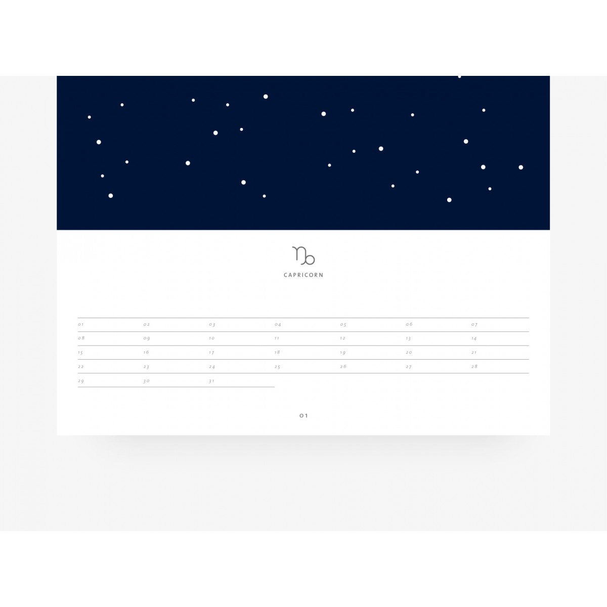 typealive / Wandkalender DIN A3 / Signs