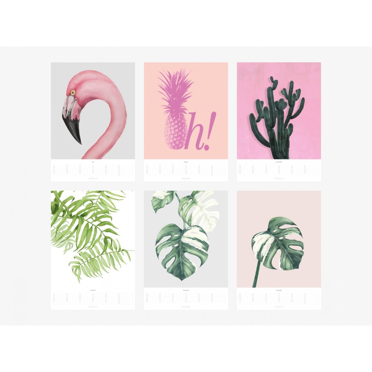 typealive / Wandkalender / Tropical