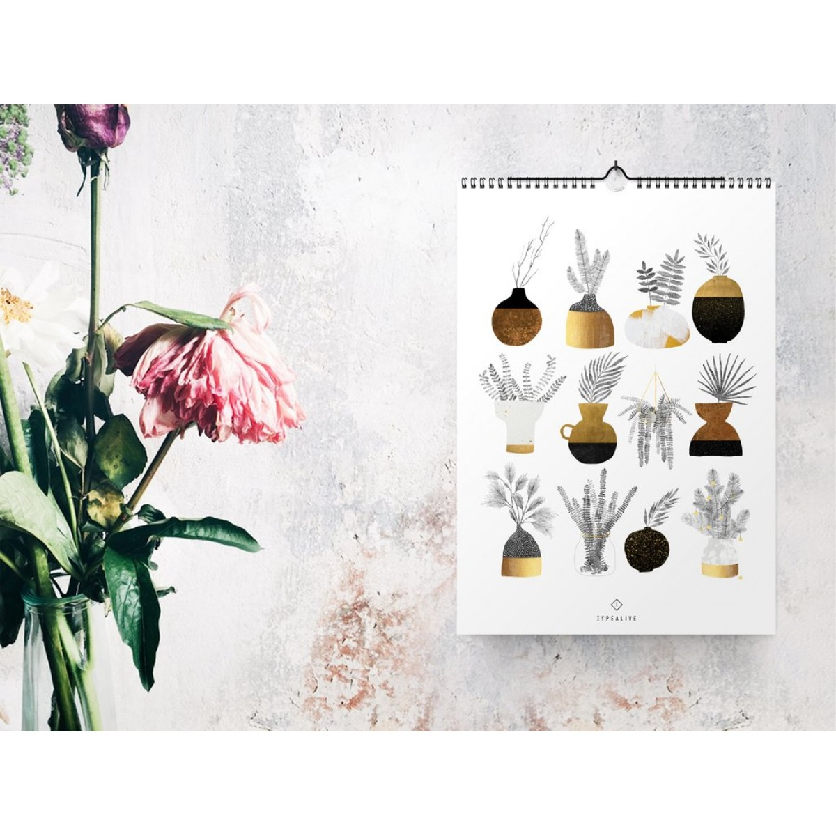 typealive / Wandkalender DIN A4 / Urban Vases 2020