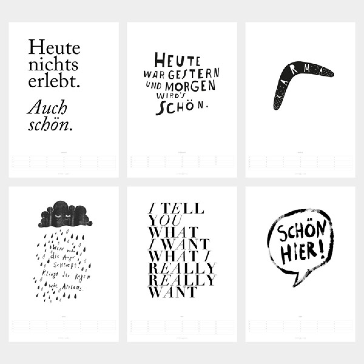 typealive / Wandkalender 2017 Life Quotes