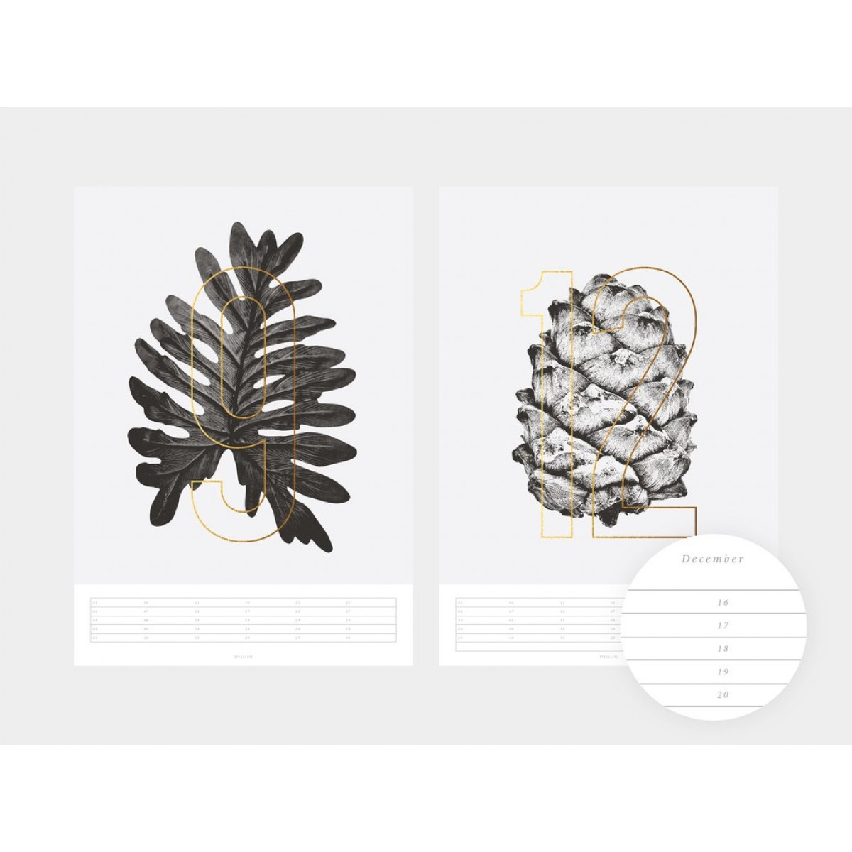 typealive / Wandkalender / Plants 2020