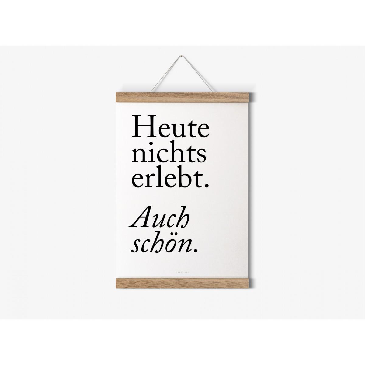 typealive / Magnetische Posterleiste aus Eiche / perfekt für DIN A5-Prints