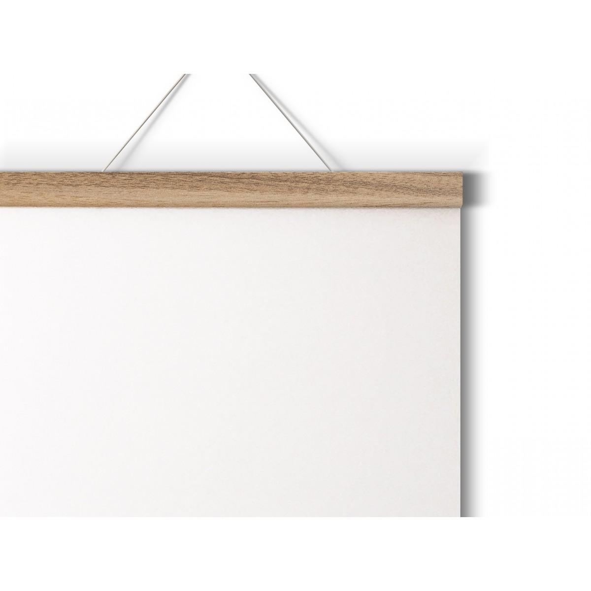 Magnetische Posterleiste aus Eiche / perfekt für DIN A2-Prints