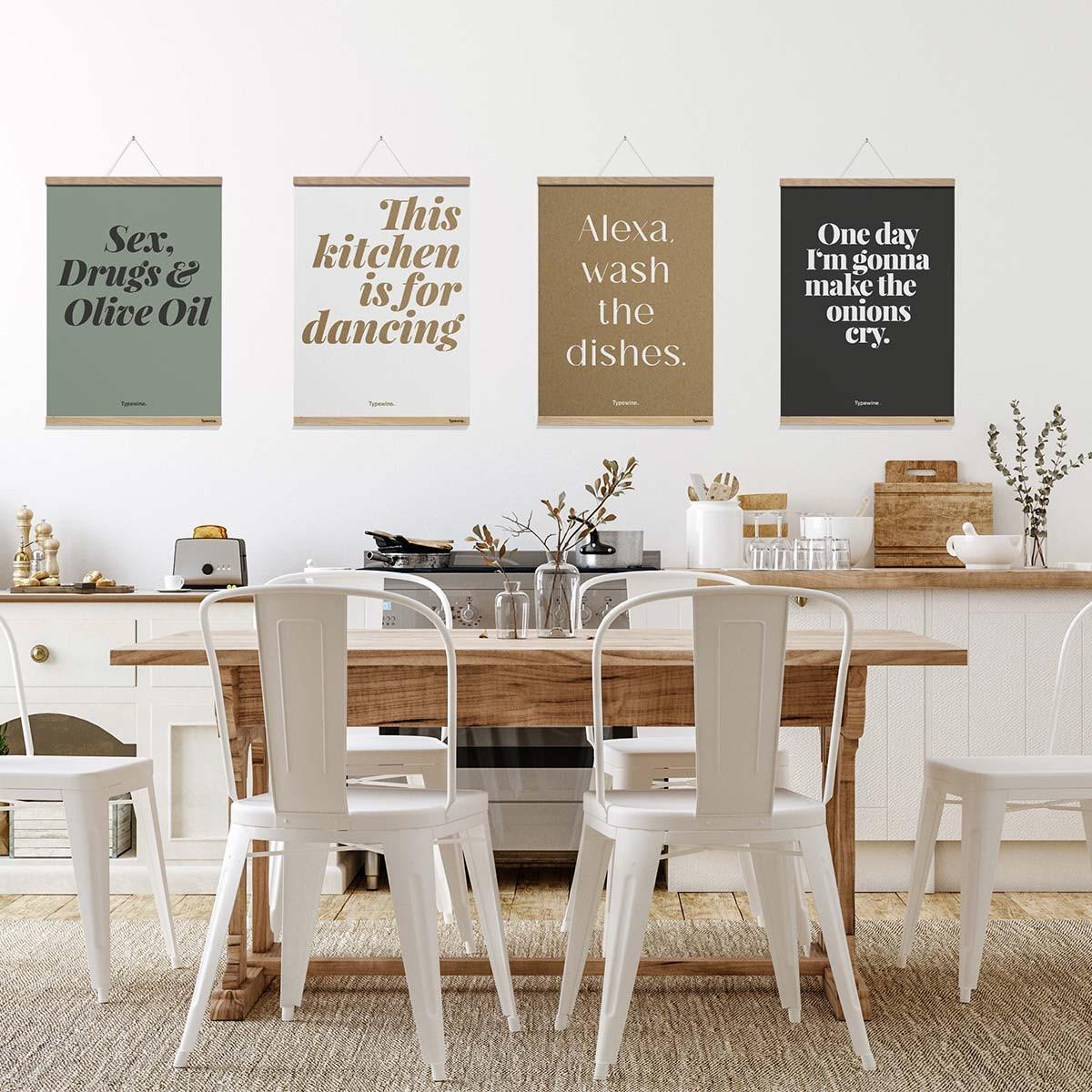 Küchenposter »Olive Oil« mit Posterleiste