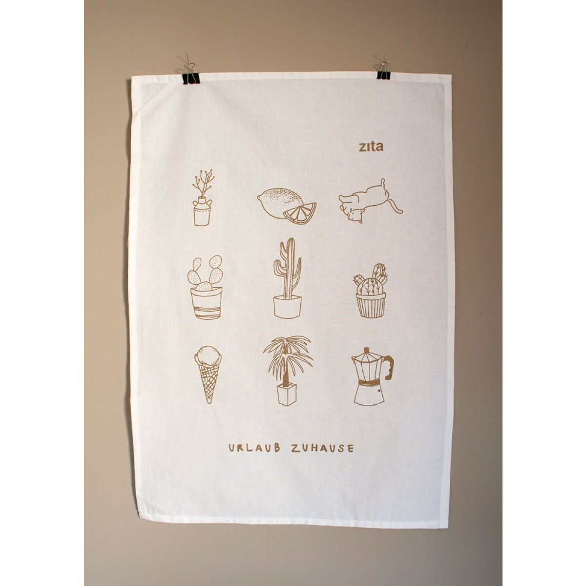 zita products - ULLA Geschirrtuch gold