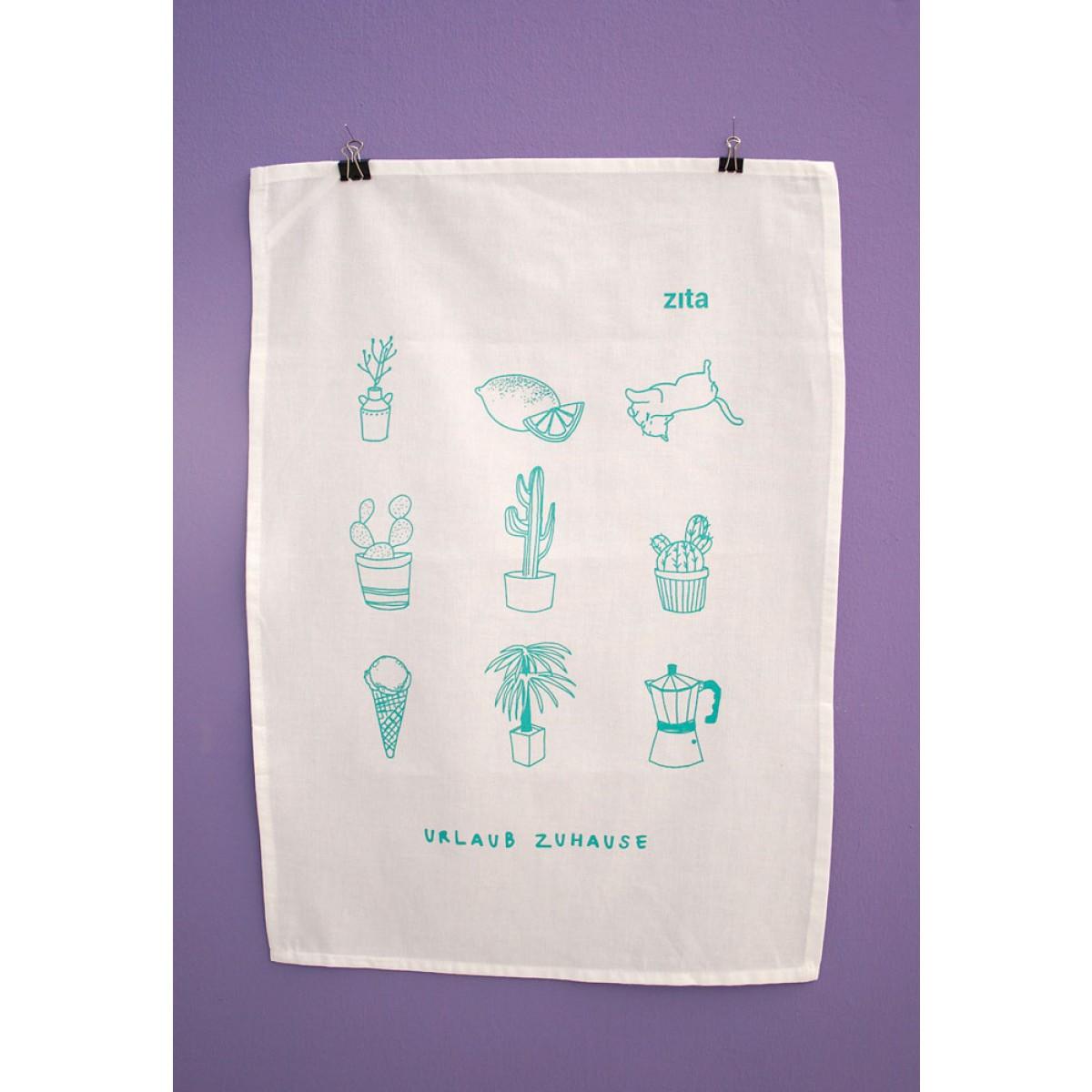zita products - ULLA Geschirrtuch türkis