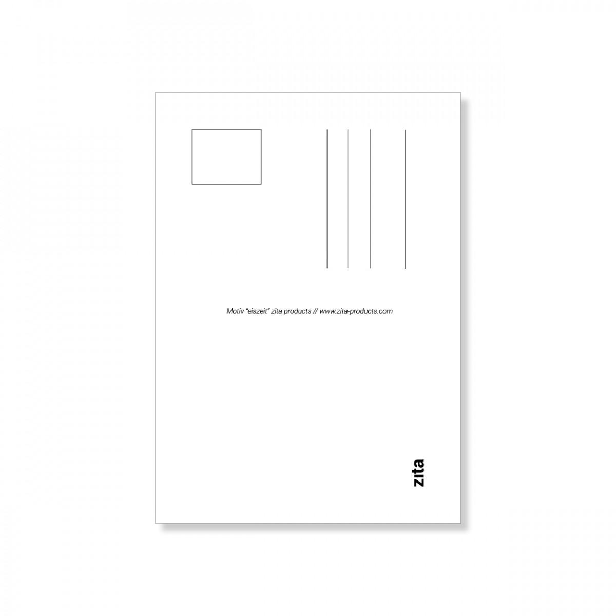 """zita products - ULLA Postkarte """"Eiszeit"""""""
