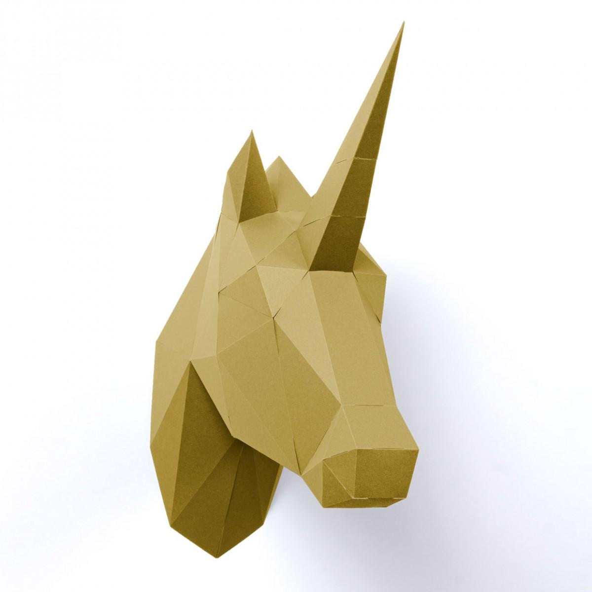 PaperShape DIY 3D Einhorn zum Zusammenstecken