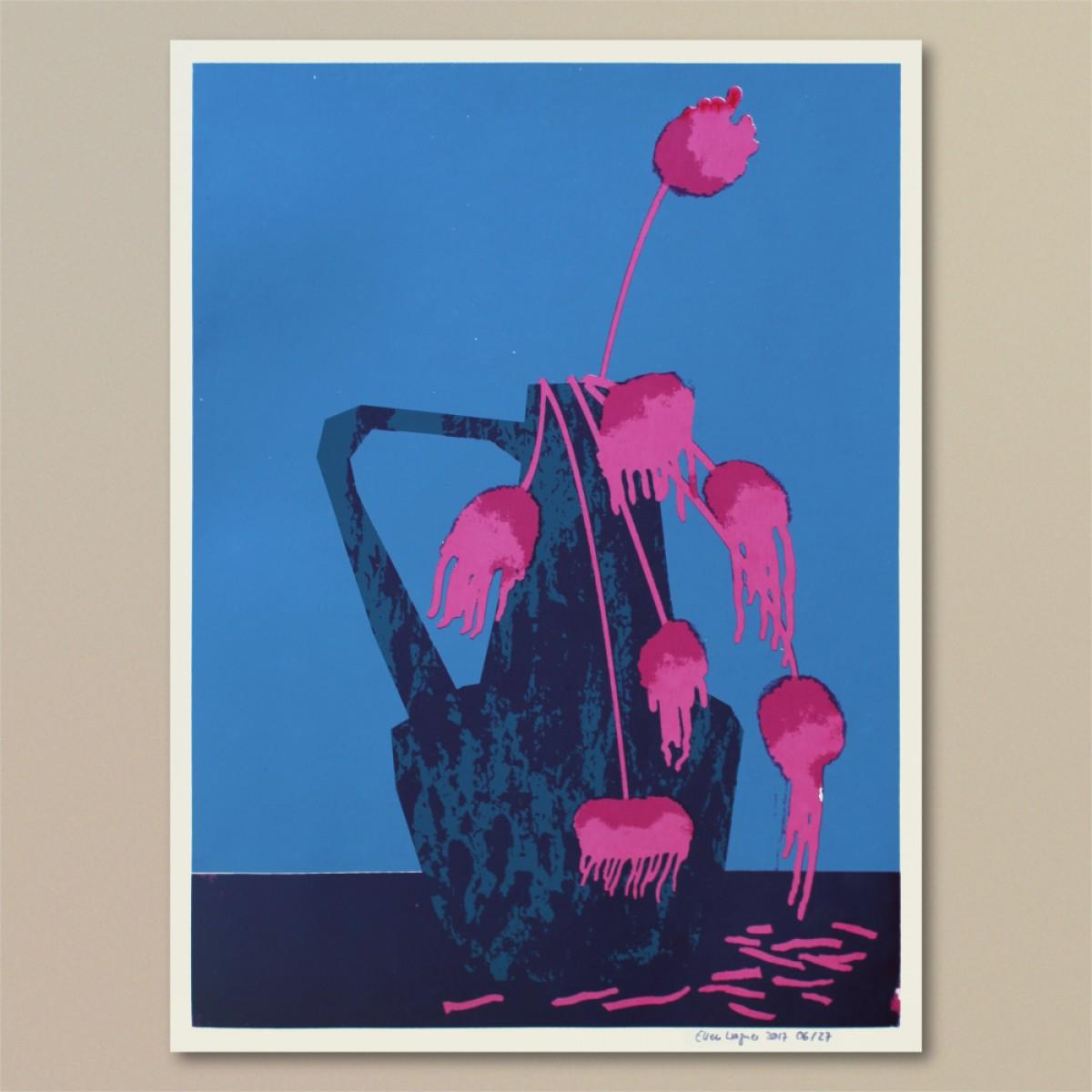Print now - Riot later ● Vase #3 Siebdruck
