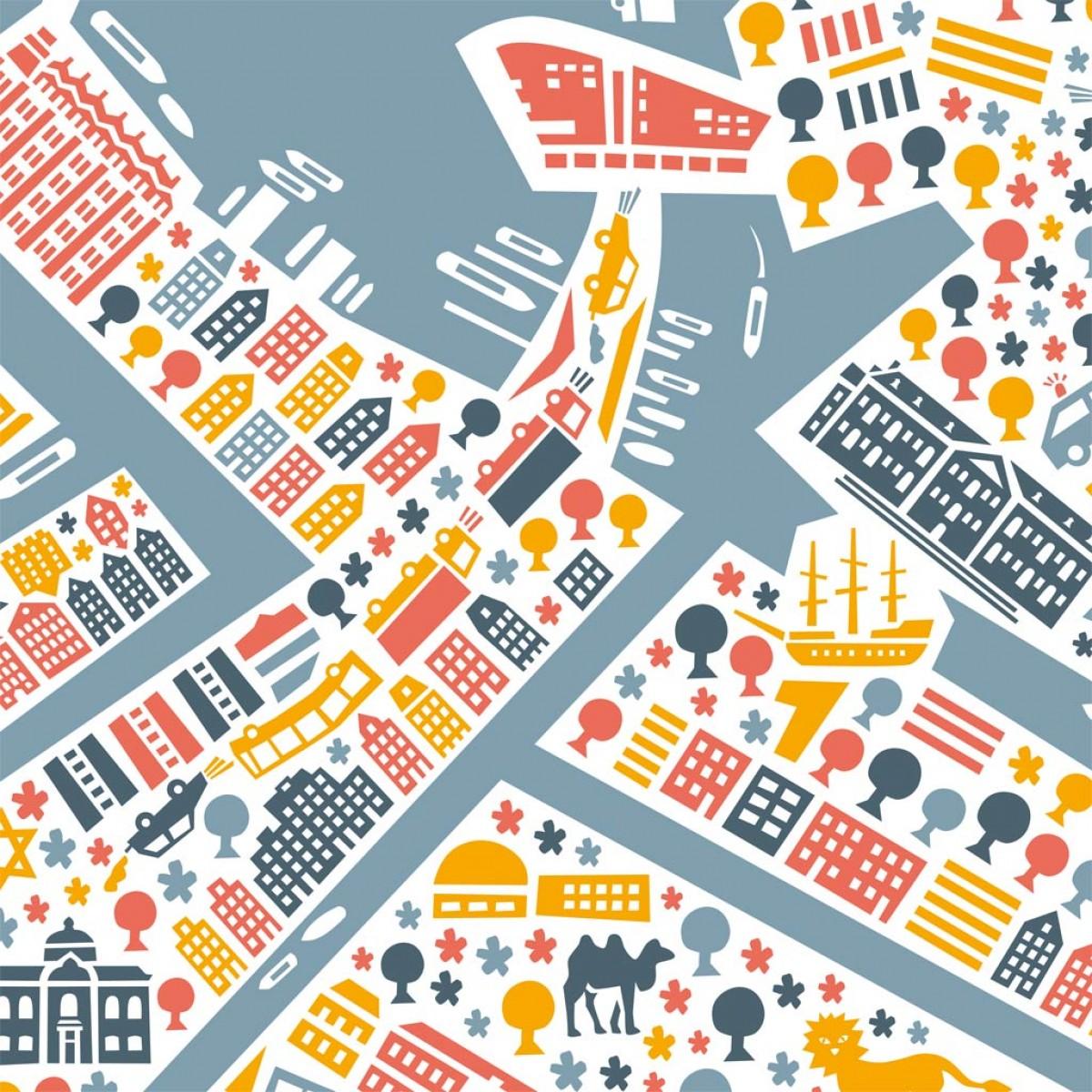 Vianina Amsterdam Poster 100x70