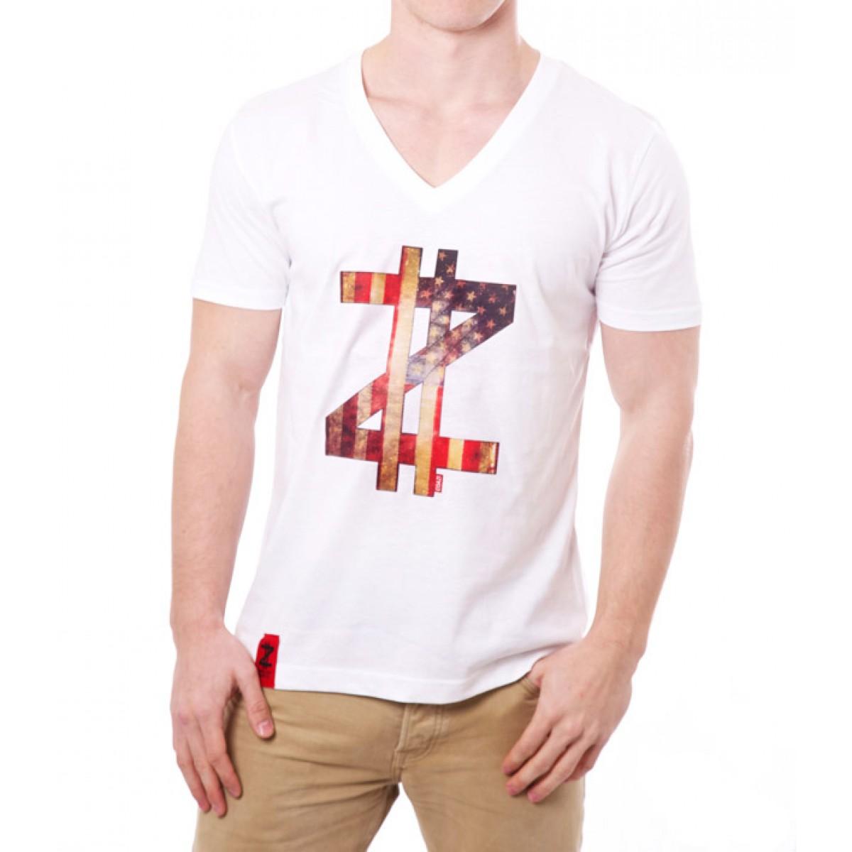 Coazi American Label V-Shirt | Bio Baumwolle & Fair Trade