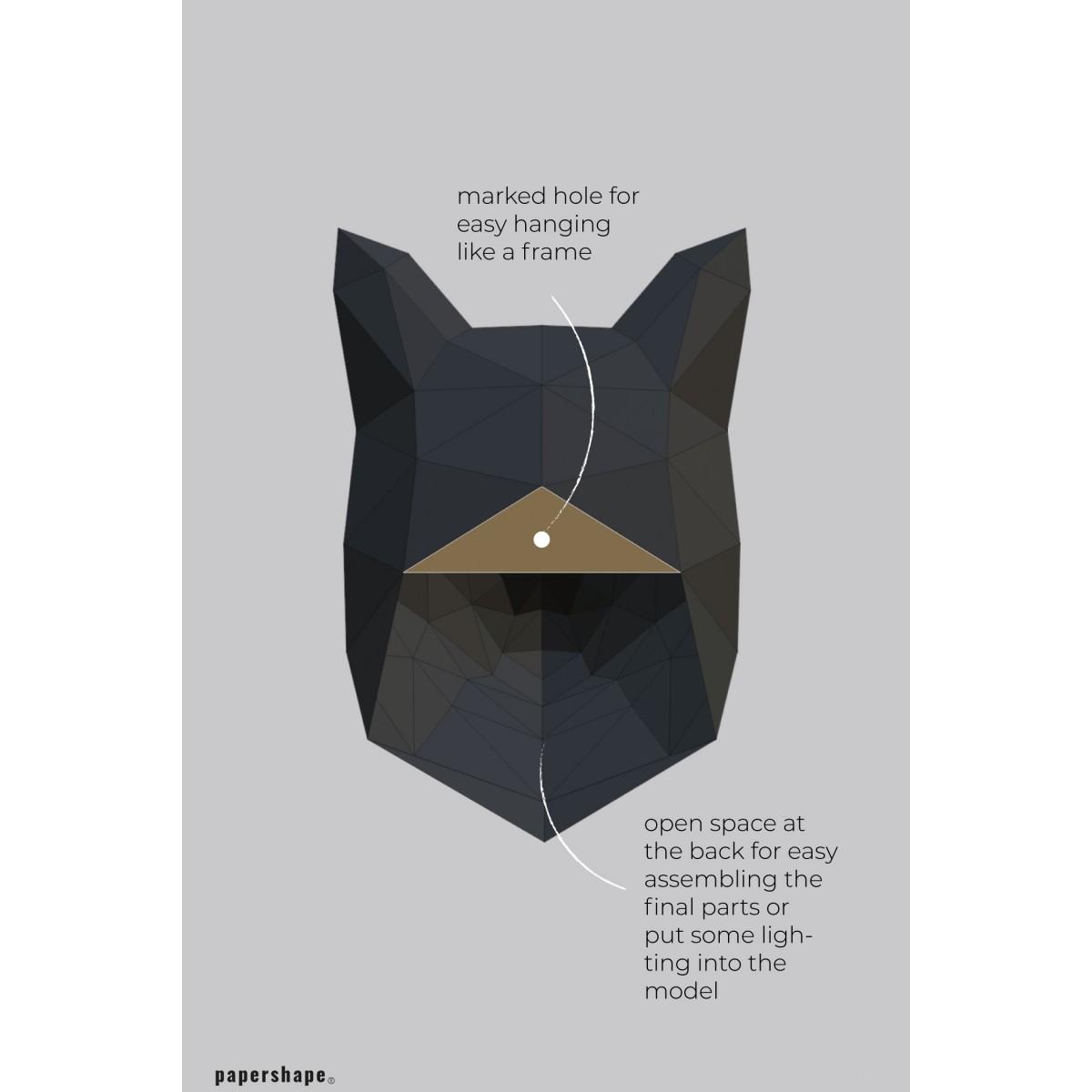 Fuchs - Vegane Tiertrophäe aus Papier im DIY Kit