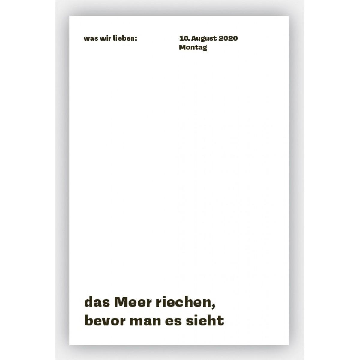 Birte Spreuer | Daniela Spinelli was wir lieben: in 366 Tagen Ein Notizkalender für 2020 mit Liebeserklärungen an den Alltag