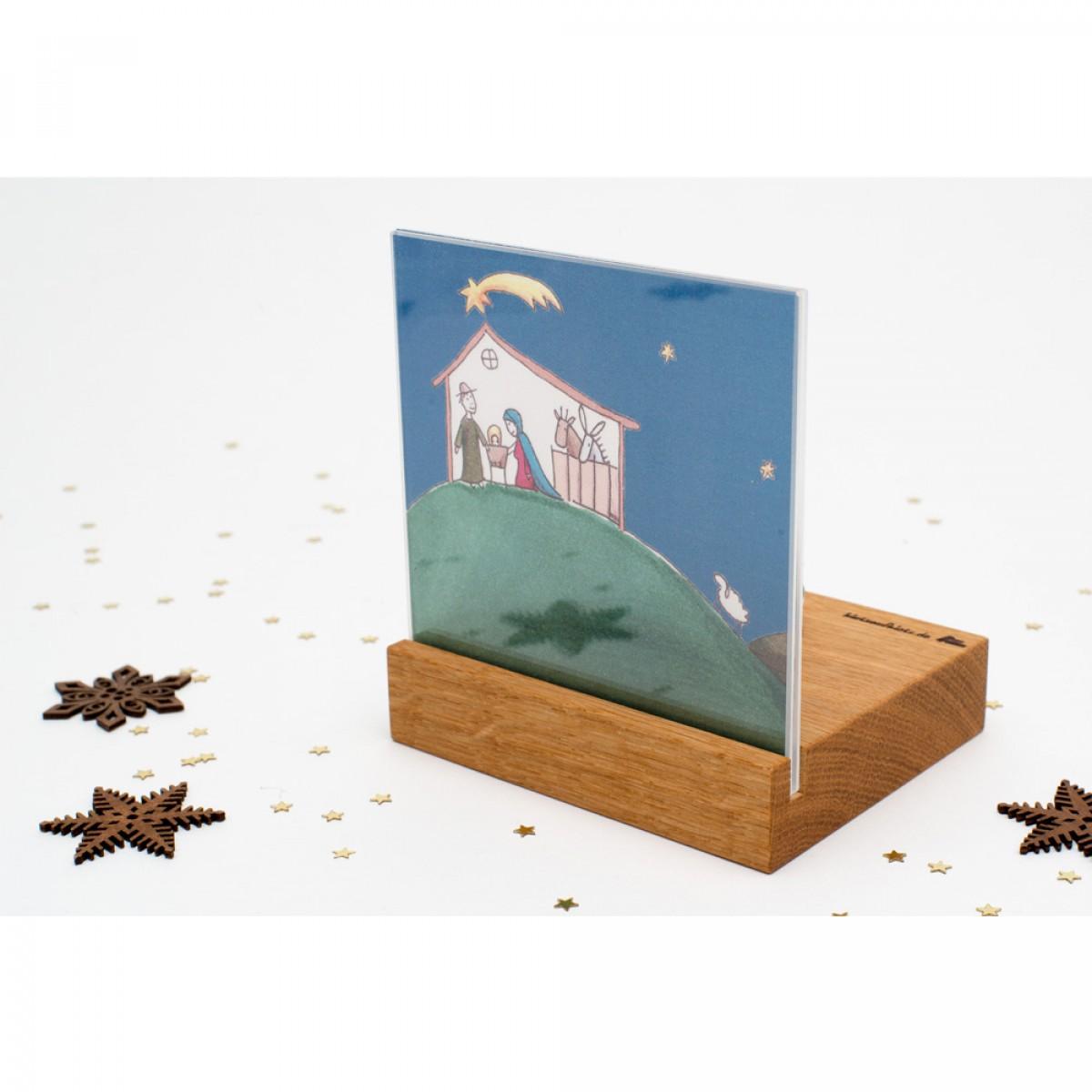 klotzaufklotz Weihnachtskrippe Mini Landschaft (Eichenholz)