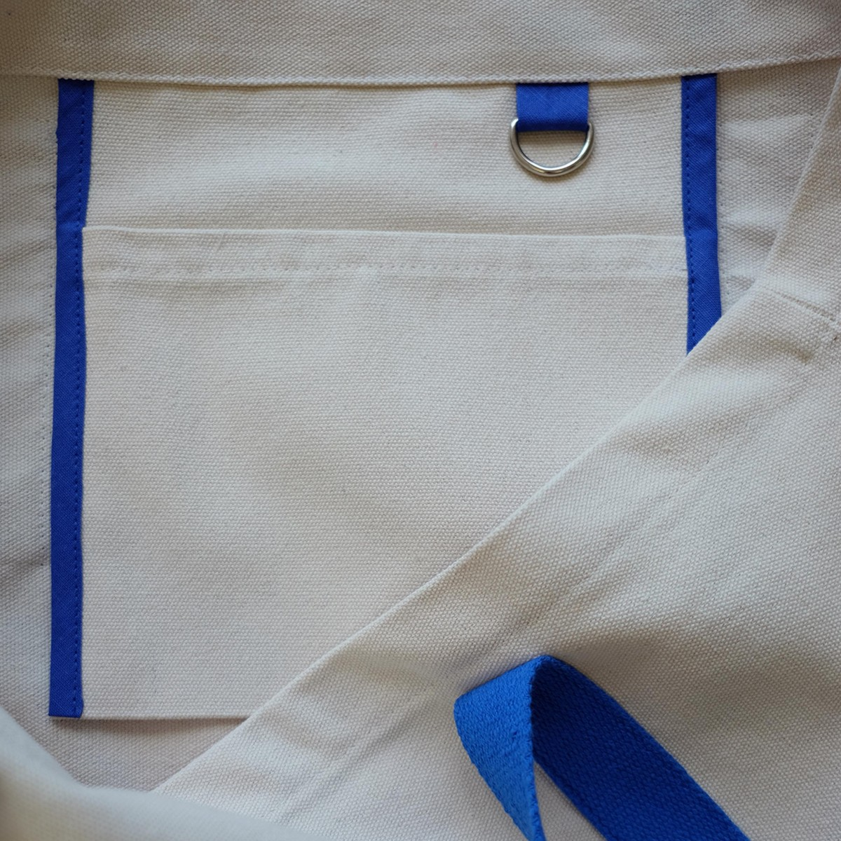 We Make Patterns - Canvas Yoga / Beachbag - Creme/Blue