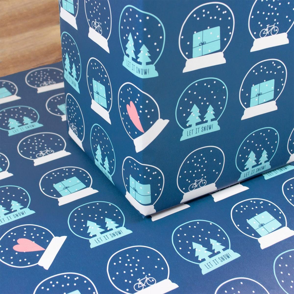 "Bow & Hummingbird Geschenkpapier ""Let it snow!"""