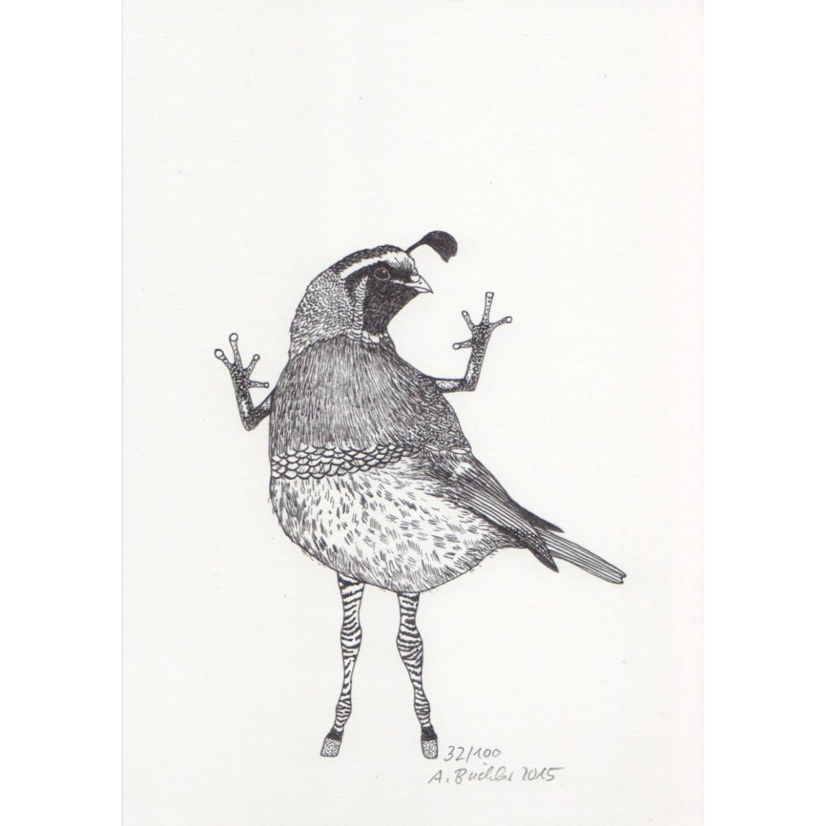 Anka Büchler, Das Liebesspiel der Wolpertinger, limitierte Digitaldruckserie, A5, Motiv 15