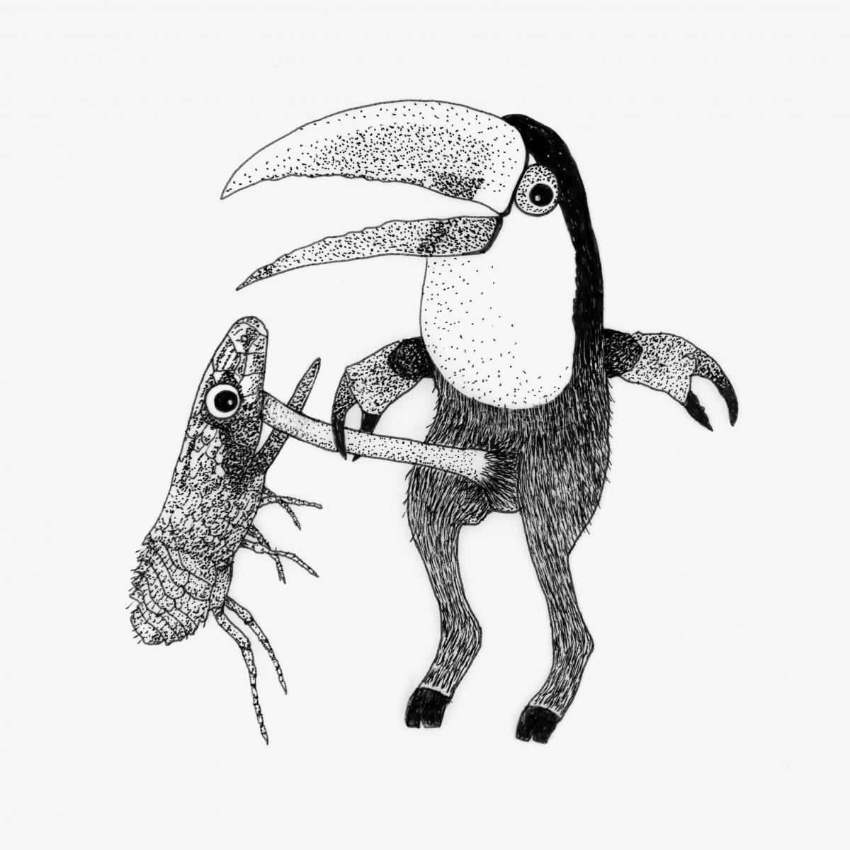 Anka Büchler Das Liebesspiel der Wolpertinger limitierte Risodruckserie, Motiv 4
