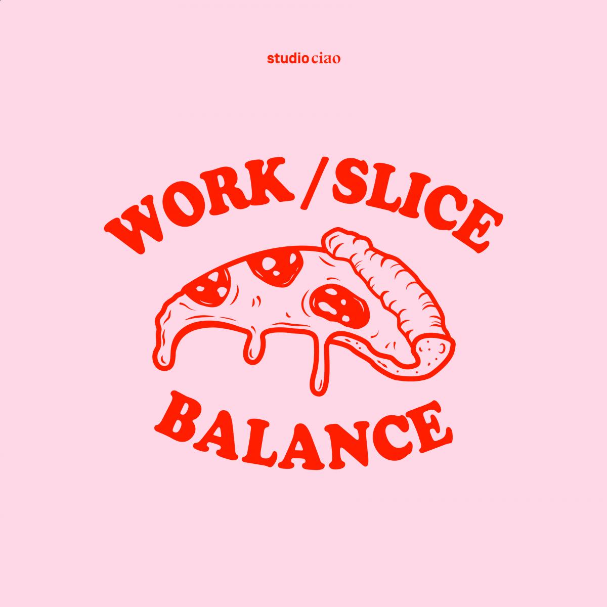 Work Slice Balance Baumwolltasche – studio ciao