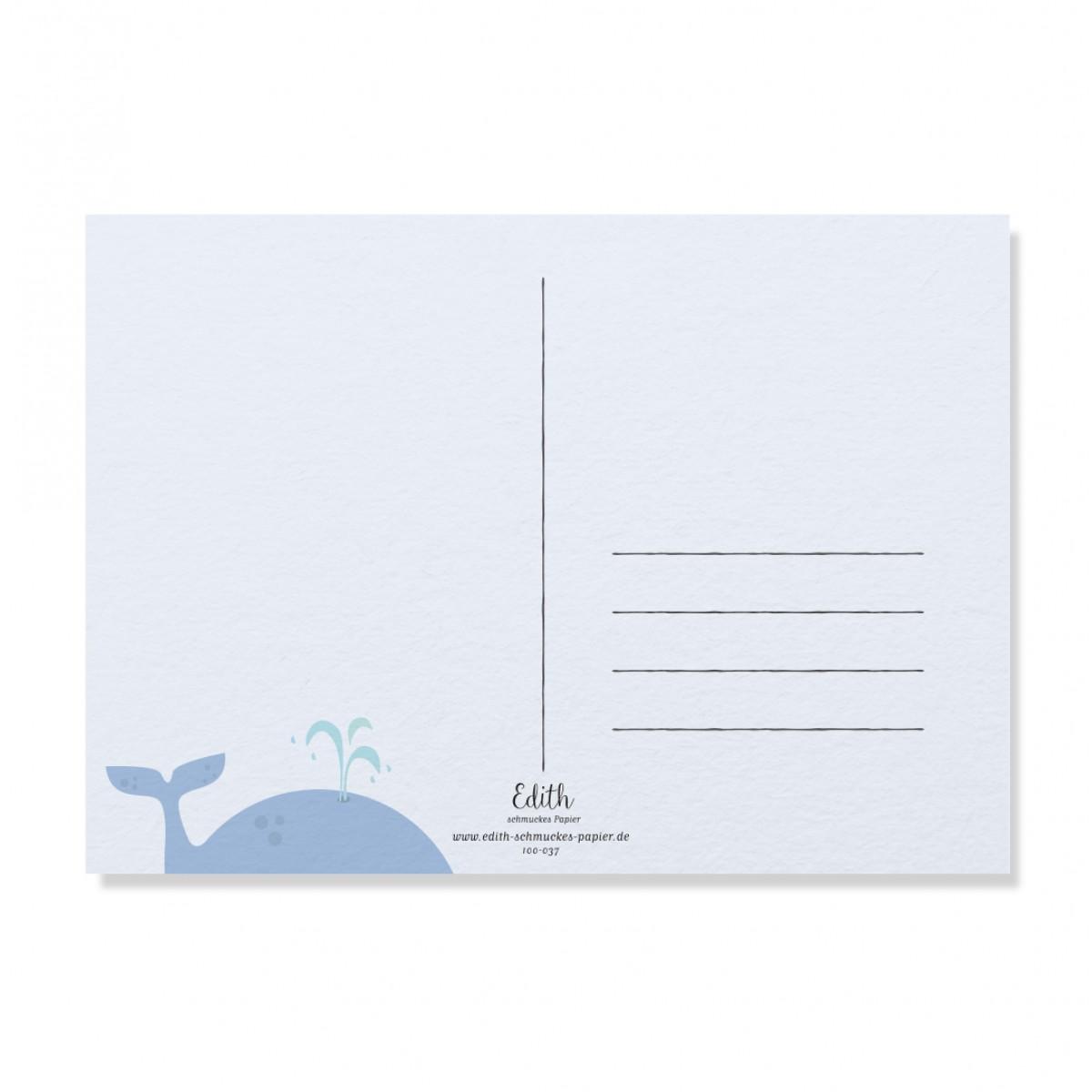 "Edith schmuckes Papier ""Hey Buddy - Postkarte Set""  2 Postkarten"