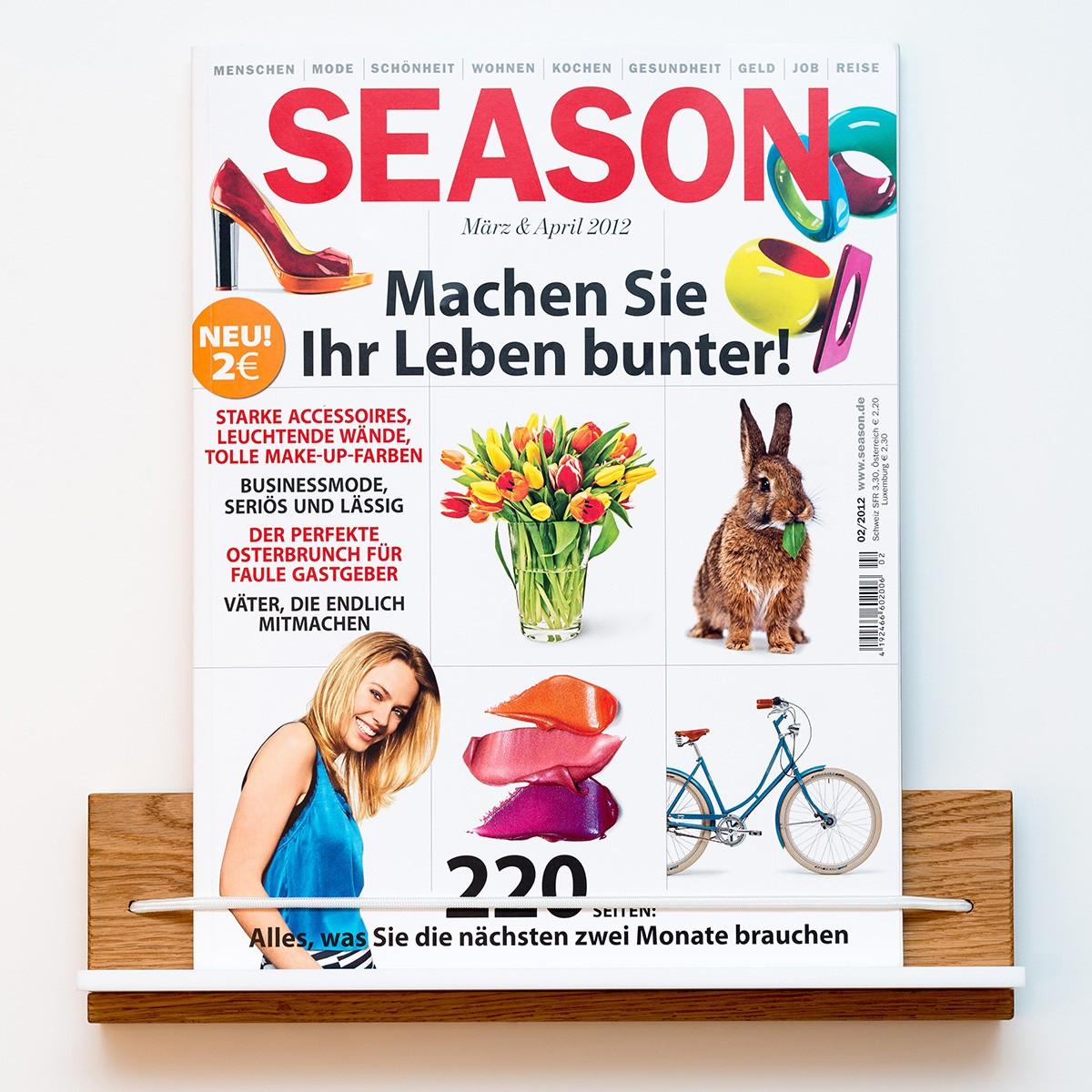 Zeitschriftenhalter Eiche