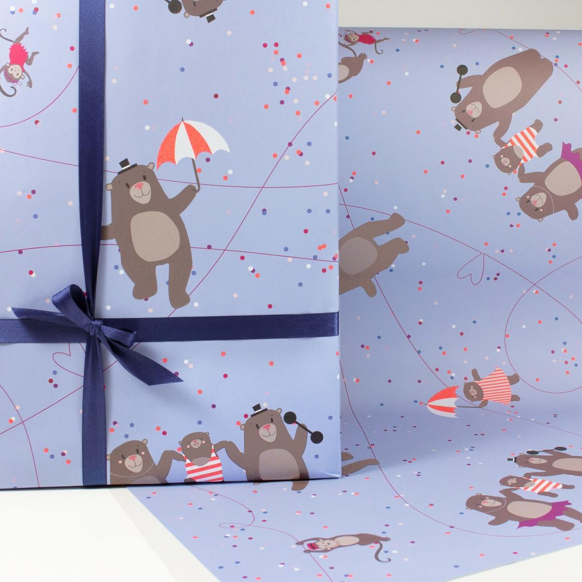 """Bow & Hummingbird Geschenkpapier """"Circus Bears"""""""