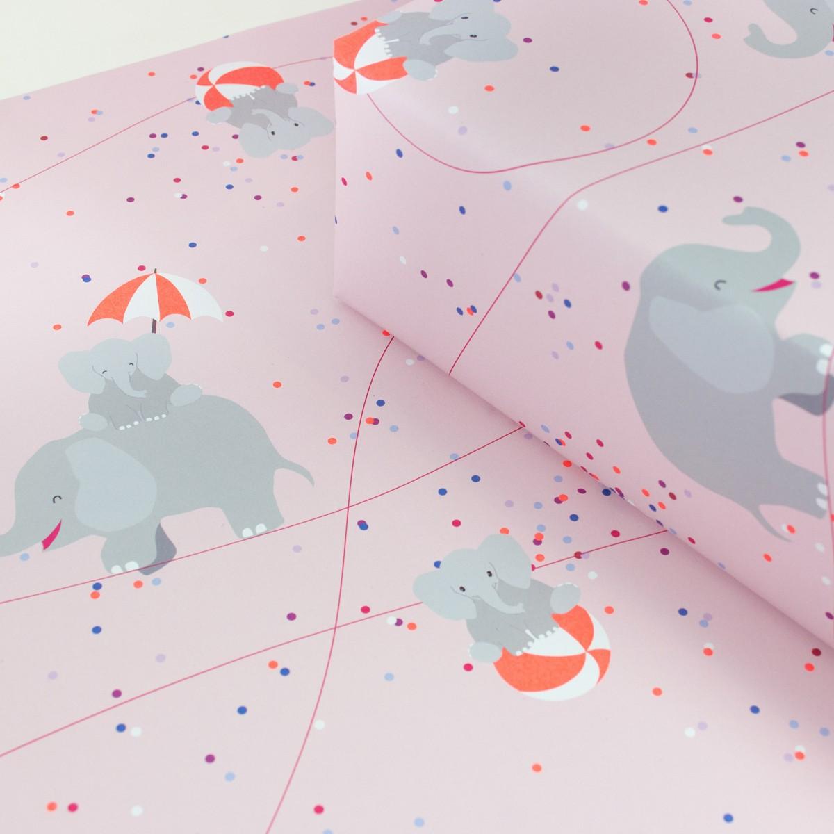 """Bow & Hummingbird Geschenkpapier """"Circus Elephants"""""""