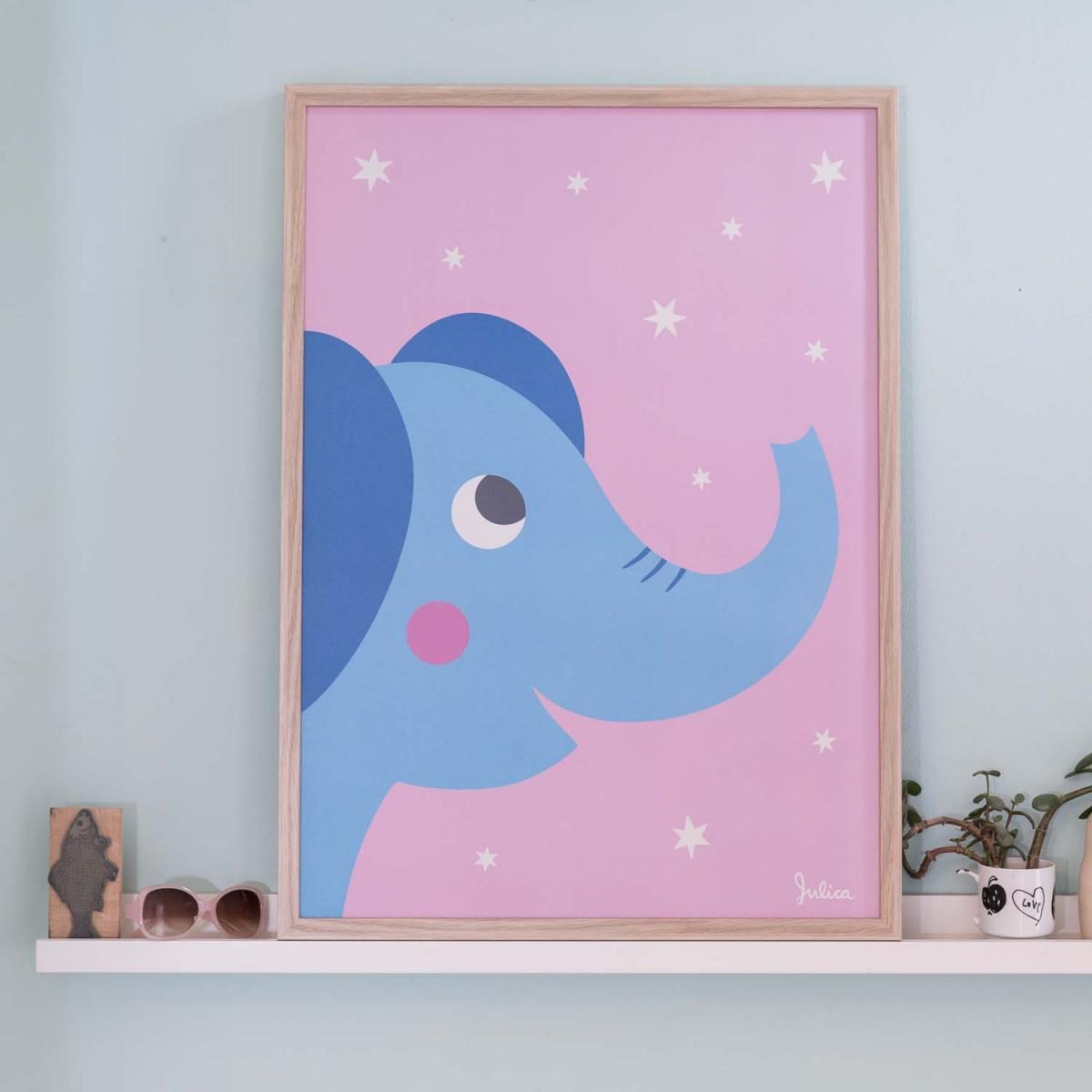 zookids Poster nachtleuchtend Elefant