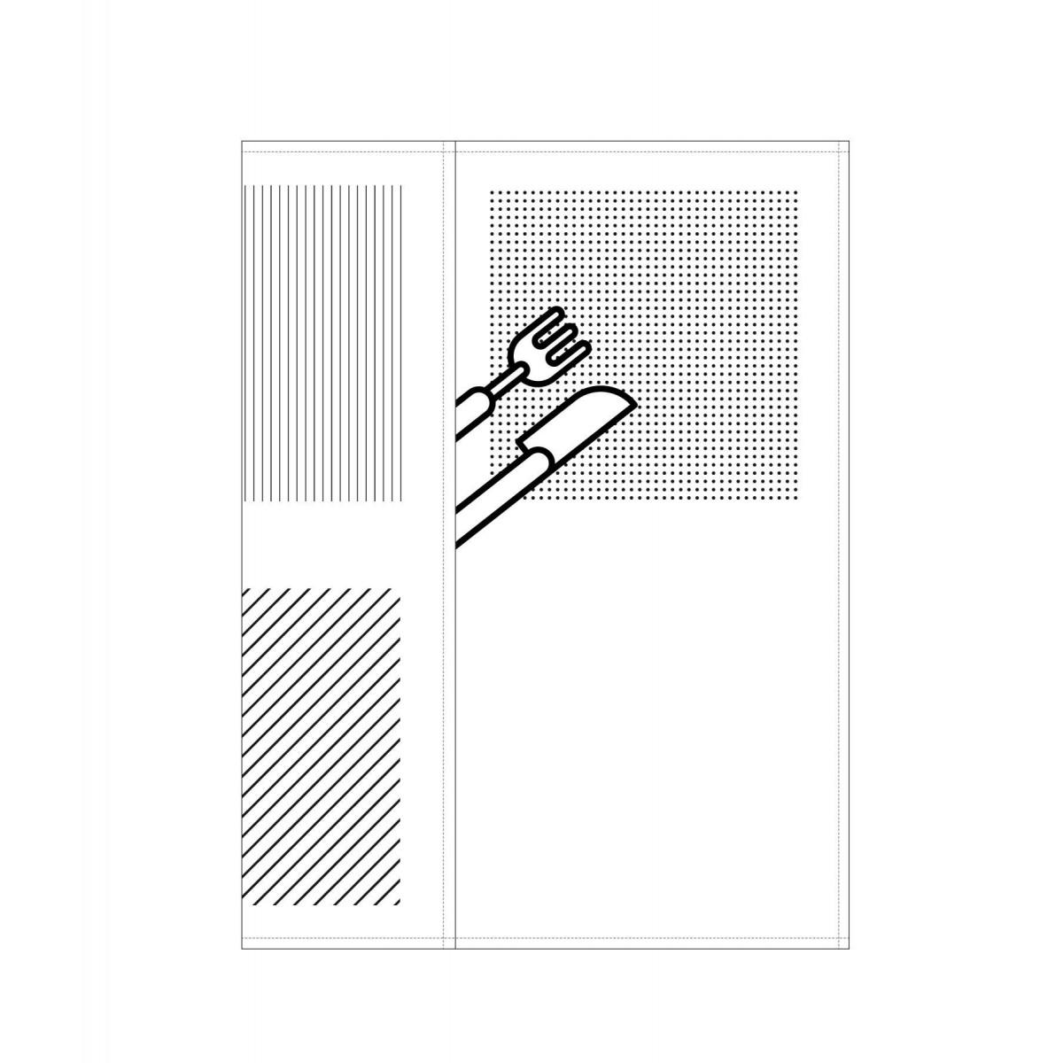 ZURÜCK Picknick Serviette bedruckt weiß