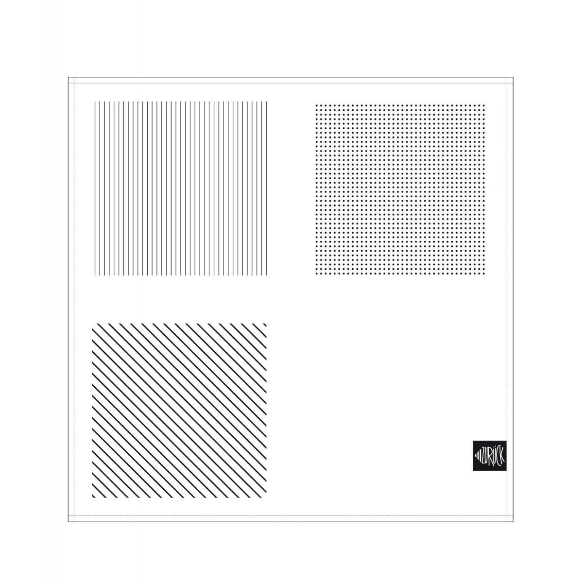 ZURÜCK Serviette 2er Set bedruckt mint