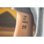 Temporary Tattoo - Burger  (2er Set)