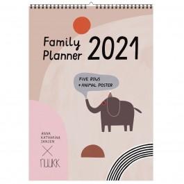 nuukk Happy - 2021 Familien-Kalender mit Poster