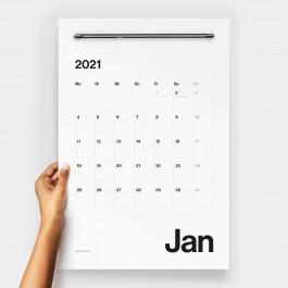 PRINT IS DEAD® 2021 Wandkalender / Starter-Set: Kalenderpapier inkl. Wandleiste