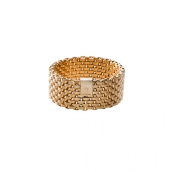 Jasmina Jovy Jewellery Decode! Mesh Ring RIDC03 small gold plated