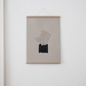 KLEINWAREN / VON LAUFENBERG Set 5 / Monsieur Visionaer (A2 Siebdruck Poster) + Magnetische Posterleiste Eiche A2