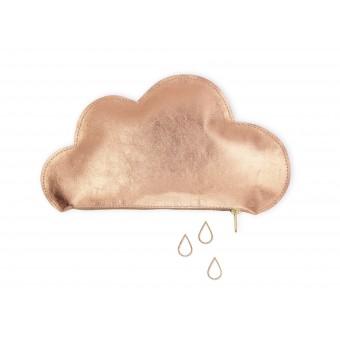 lille mus Täschchen Wolke aus Leder – Roségold