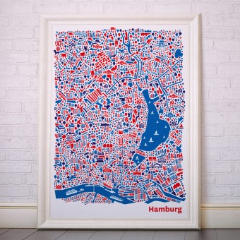Vianina Hamburg Poster 70 x 100