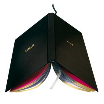 WAHN Notizbuch (125 x 185 mm, schwarzes Leinen mit Goldschnitt)