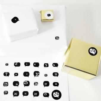AdventsKalender Sticker 1234 *typewriter*