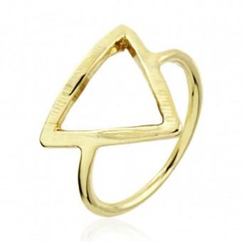 Anoa Ring 'Dreieck' vergoldet