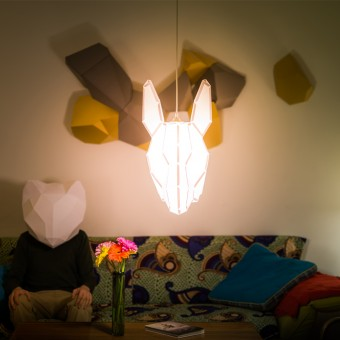 Donkey Large - do it yourself paper lampshade