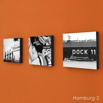 COGNOSCO Wandbild/ Holzblock 3er Set Fotografie Hamburg